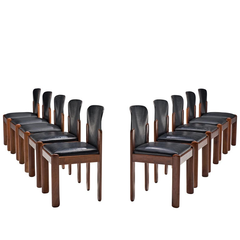 Silvio Coppola Set of Ten Dining Chairs For Sale
