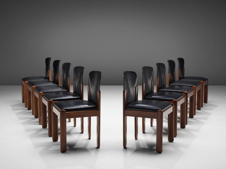 Mid-Century Modern Silvio Coppola Set of Ten Dining Chairs For Sale