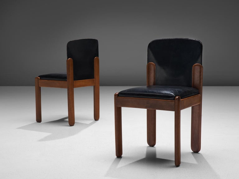 Italian Silvio Coppola Set of Ten Dining Chairs For Sale