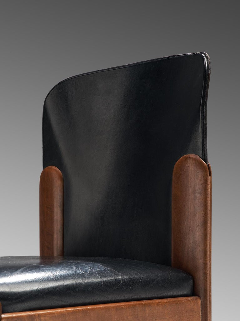 Mid-20th Century Silvio Coppola Set of Ten Dining Chairs For Sale