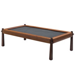 Percival Lafer Coffee Table with Cognac Leather
