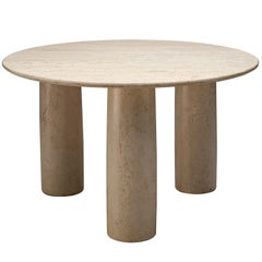Mario Bellini 'Il Colonato' White Travertine Table