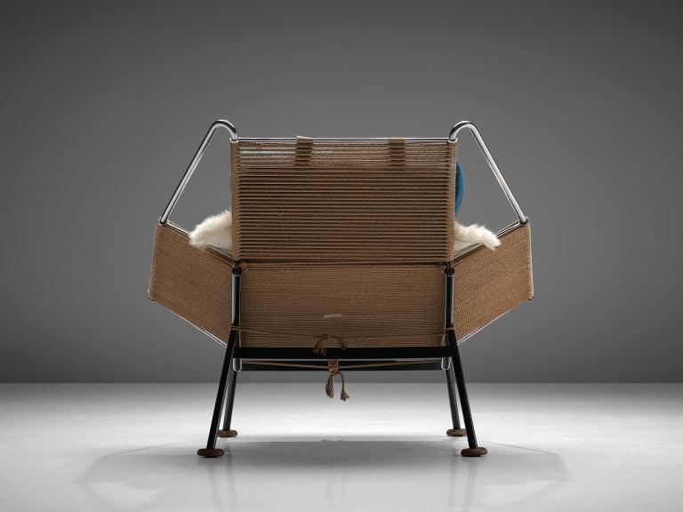 Danish Hans J. Wegner Flag Halyard Chair with Wooden Feet For Sale