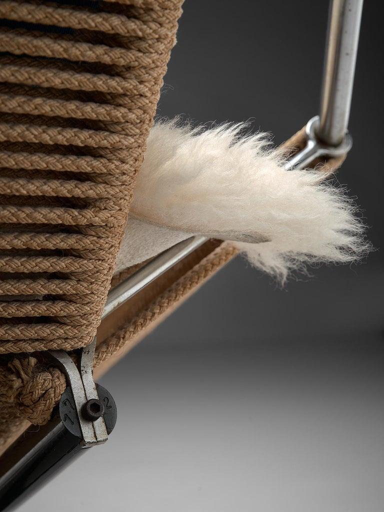 Hans J. Wegner Flag Halyard Chair with Wooden Feet For Sale 1