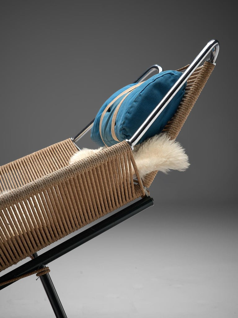 Hans J. Wegner Flag Halyard Chair with Wooden Feet For Sale 2