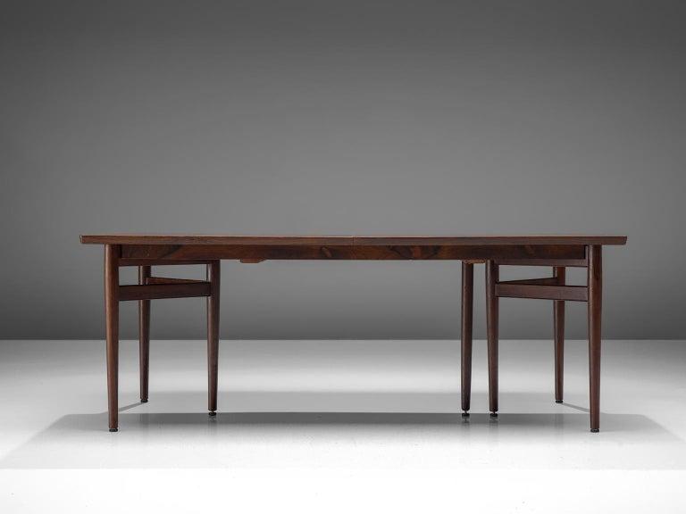 Leather Arne Vodder Dining Room Set  For Sale