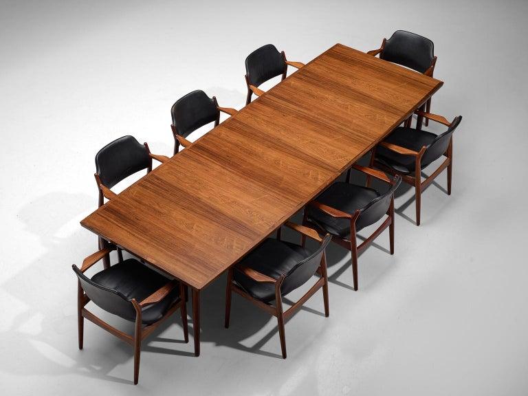 Danish Arne Vodder Dining Room Set  For Sale