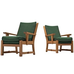 French Carved Solid Oak Chairs
