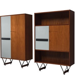 Italian Pair of Wooden Cabinets