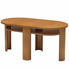 French Art Deco Table in Wood, 1932