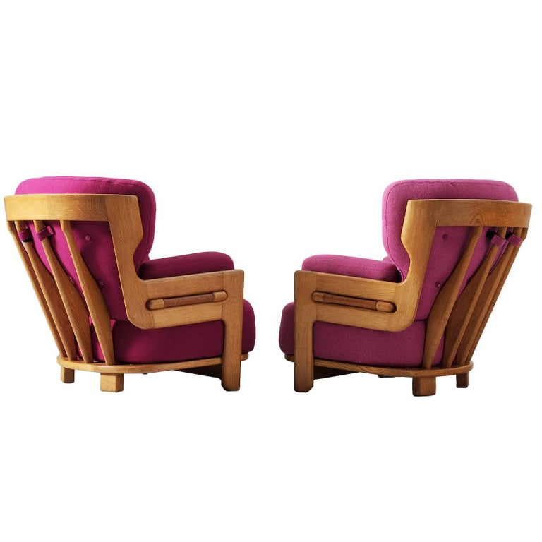 Guillerme et Chambron Pair of Lounge Chairs