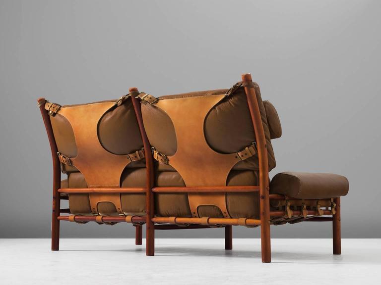 Cognac Buffalo Leather 'Inca' Sofa by Arne Norell 4