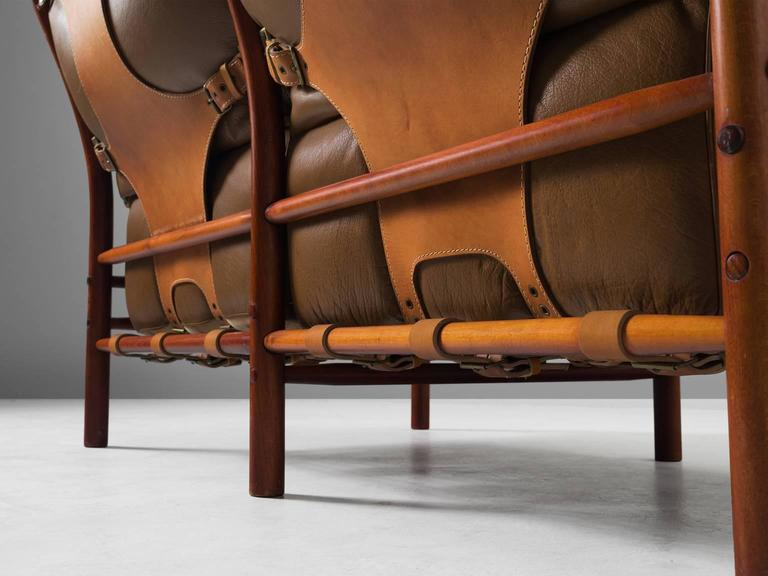 Cognac Buffalo Leather 'Inca' Sofa by Arne Norell 5