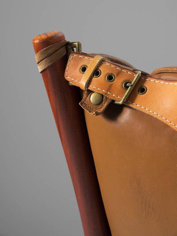 Cognac Buffalo Leather 'Inca' Sofa by Arne Norell 8
