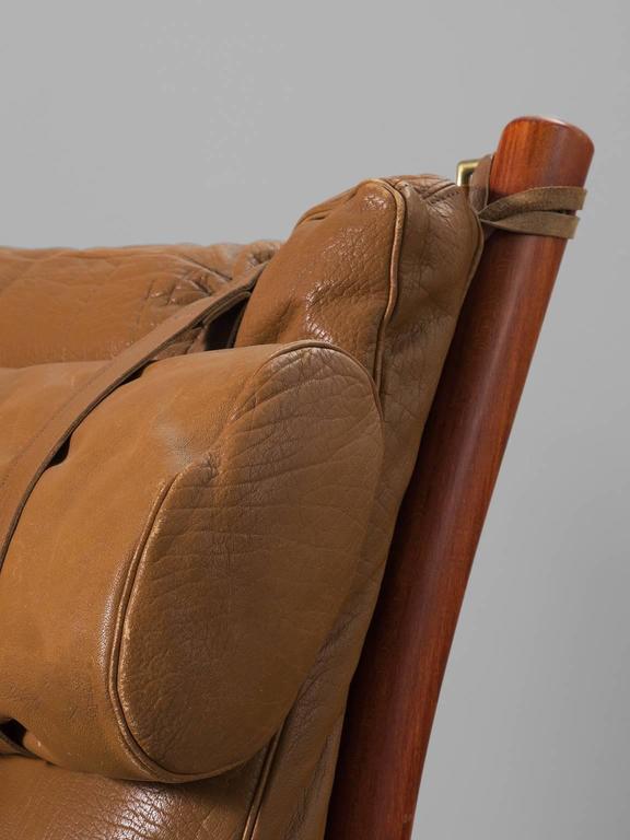 Cognac Buffalo Leather 'Inca' Sofa by Arne Norell 7
