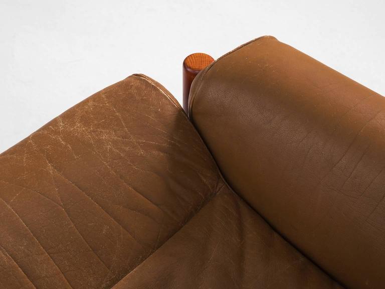 Cognac Buffalo Leather 'Inca' Sofa by Arne Norell 6