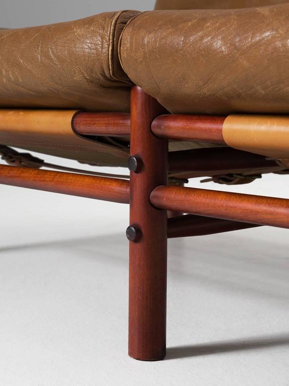 Cognac Buffalo Leather 'Inca' Sofa by Arne Norell 9
