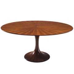 Luigi Massoni Oval Rosewood Dining Table