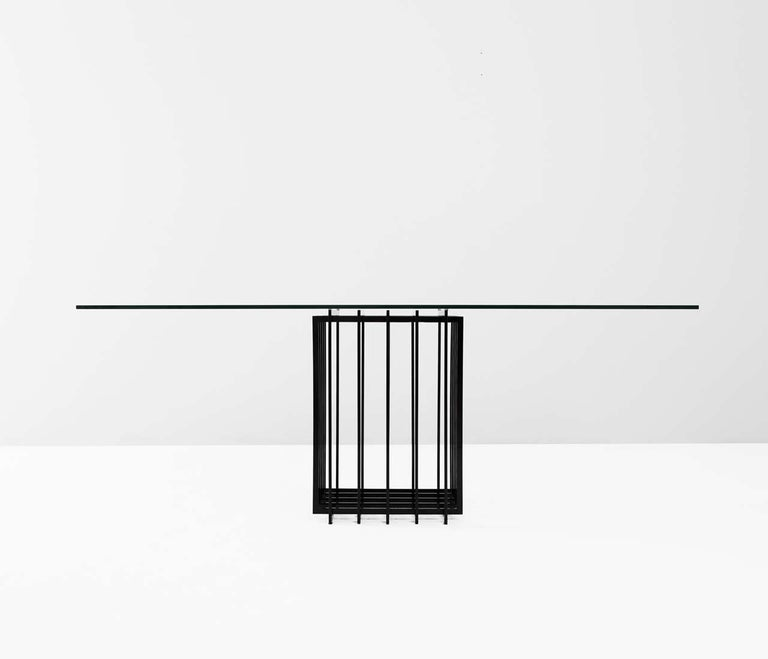 Mid-Century Modern Pierre Cardin Sculptural Table in Glass and Metal
