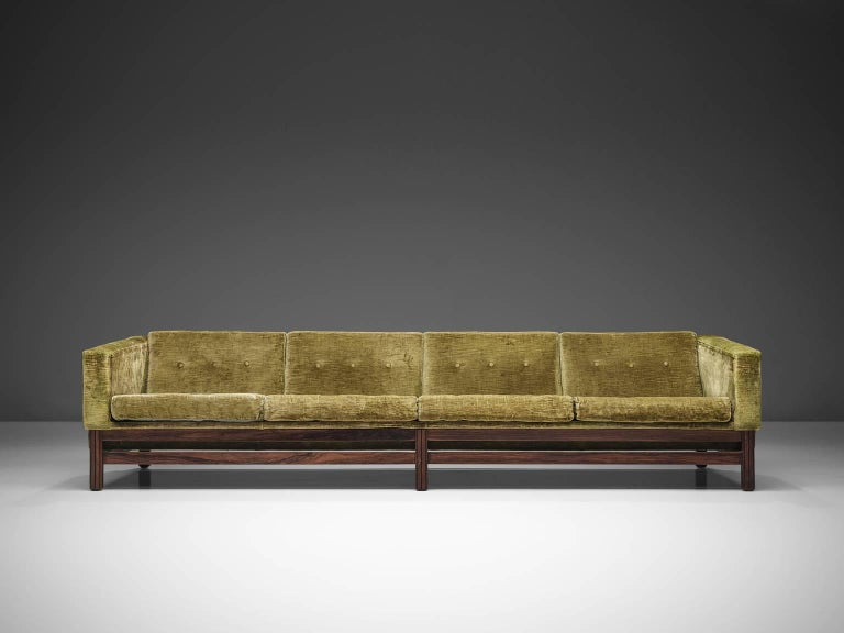 Italian Saporiti Living Room Set in Original Velvet For Sale