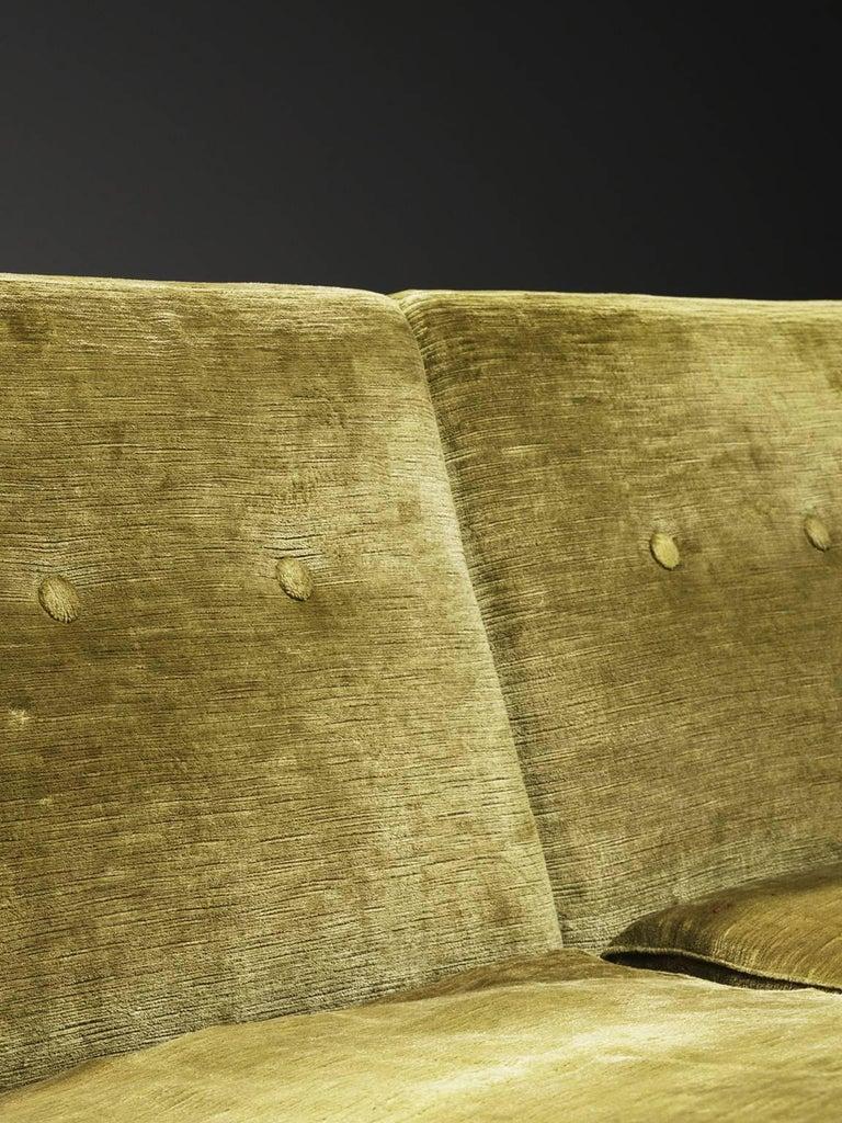 Saporiti Living Room Set in Original Velvet In Good Condition For Sale In Waalwijk, NL