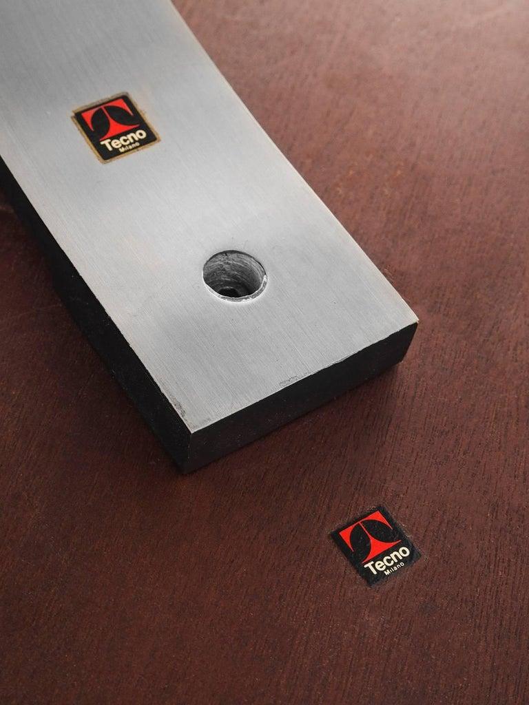 Steel Osvaldo Borsani Rosewood Table for Tecno For Sale