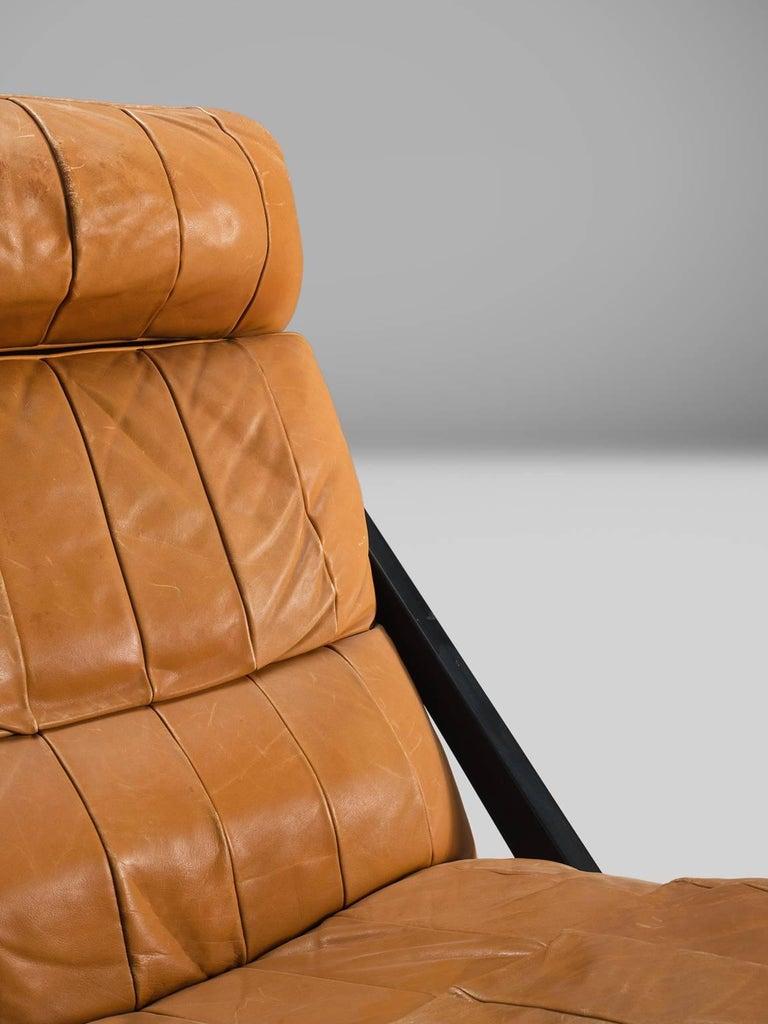 Ueli Berger Cognac Leather Lounge Chair for De Sede For Sale 1