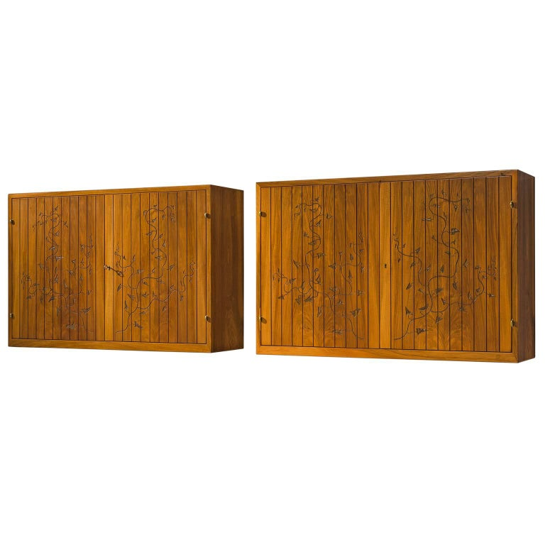 Wall Mounted Cabinets Attributed to Oscar Nilsson