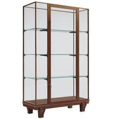 Midcentury Vitrine with Glass