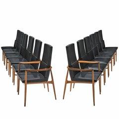 Set of Twelve De Coene 'Madison' Dining Chairs
