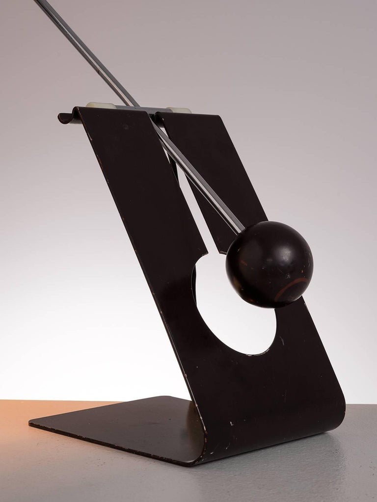 Metal Mauro Martini for Fratelli 'Picchio' Table Lamp, circa 1960 For Sale