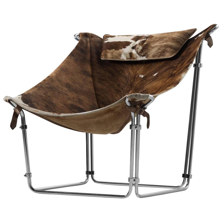 Kwok Hoi Chan Cow Hide Tubular Chair for Steiner, Paris
