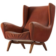 Illum Wikkelso Lounge Chair in Cognac Leather