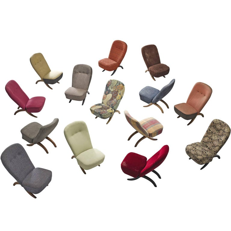 Large Set of Theo Ruth Pair of 'Congo' Easy Chairs for Artifort
