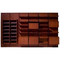 Large Italian Bookcase in Teak
