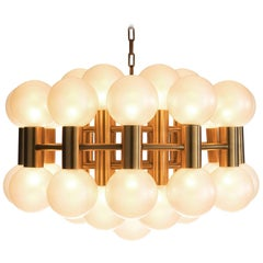 Motoko Ishii Pearl and Brass Chandelier for Staff, Germany