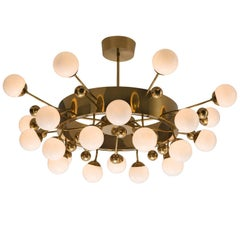 Large Brass Sputnik Chandelier, 1960s