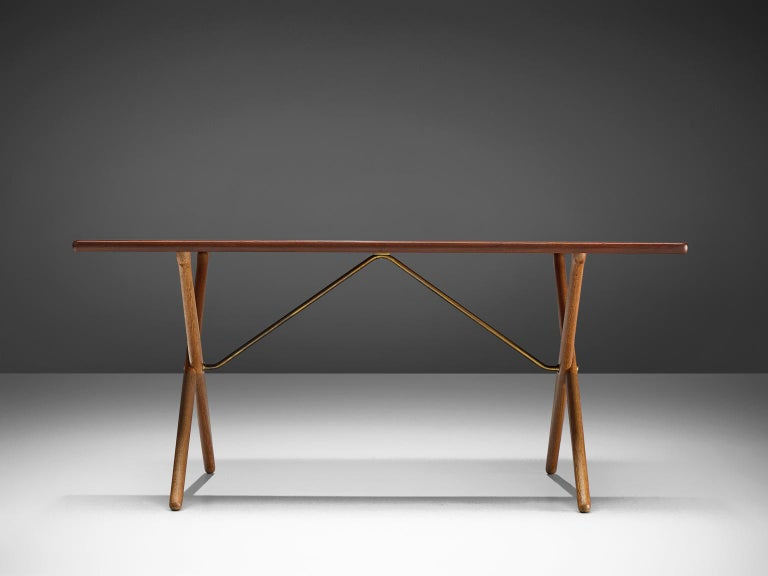 Danish Hans J. Wegner for Andreas Tuck Table For Sale