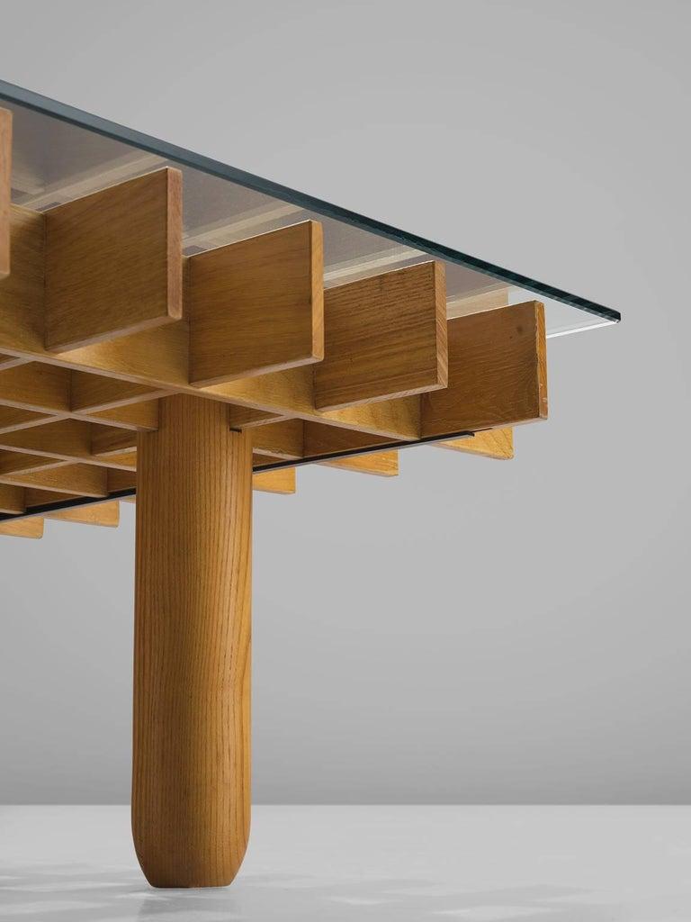 Glass Gianfranco Frattini 'Kyoto' Coffee Table For Sale