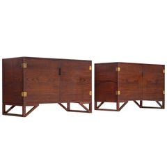 Svend Langkilde for Illum Bolighus Cabinets in Teak, 2 Pieces