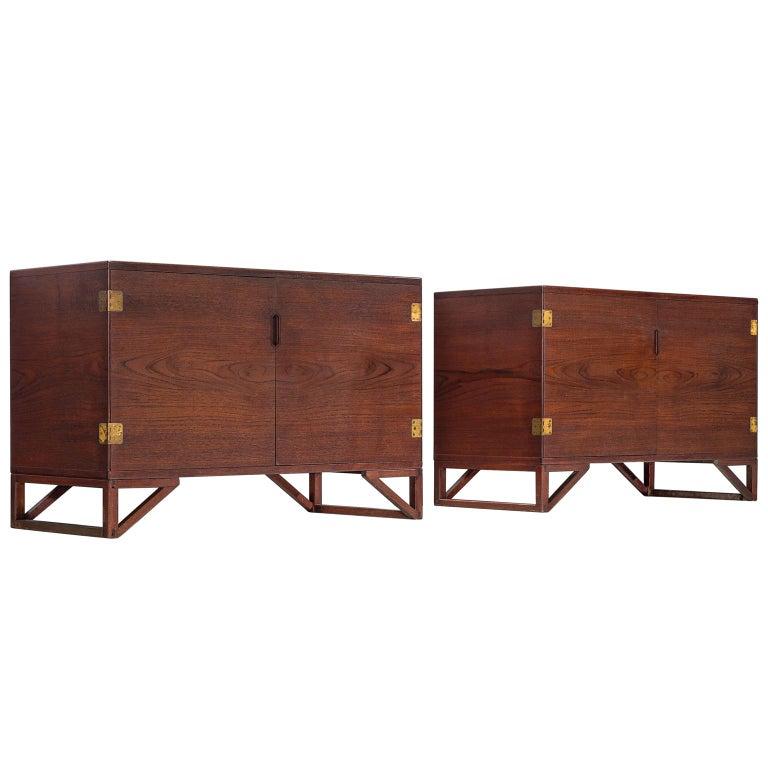 Svend Langkilde for Illum Bolighus Cabinets in Teak, 2 Pieces
