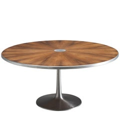 Large Table by Steen Ostergaard for Poul Cadovius in Rosewood and Aluminum