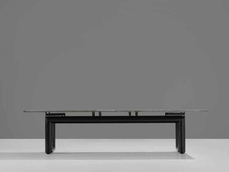Italian Mario Botta 'Terzo' Table with Grey Stone Top, 1983 For Sale