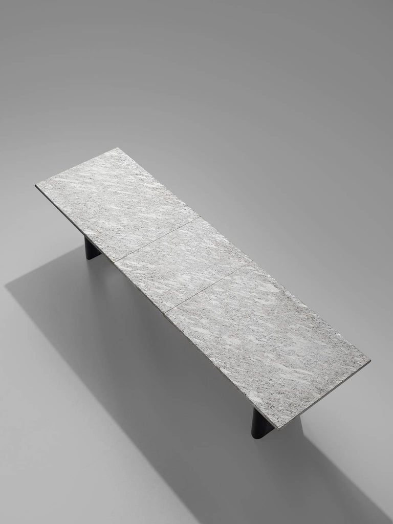 Mario Botta 'Terzo' Table with Grey Stone Top, 1983 In Good Condition For Sale In Waalwijk, NL