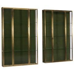 Art Deco Brass Vitrines, 1930s