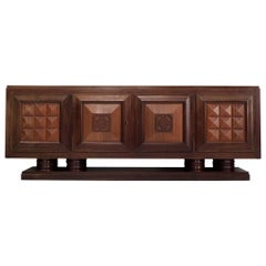 Gaston Poisson Large Art Deco Credenza