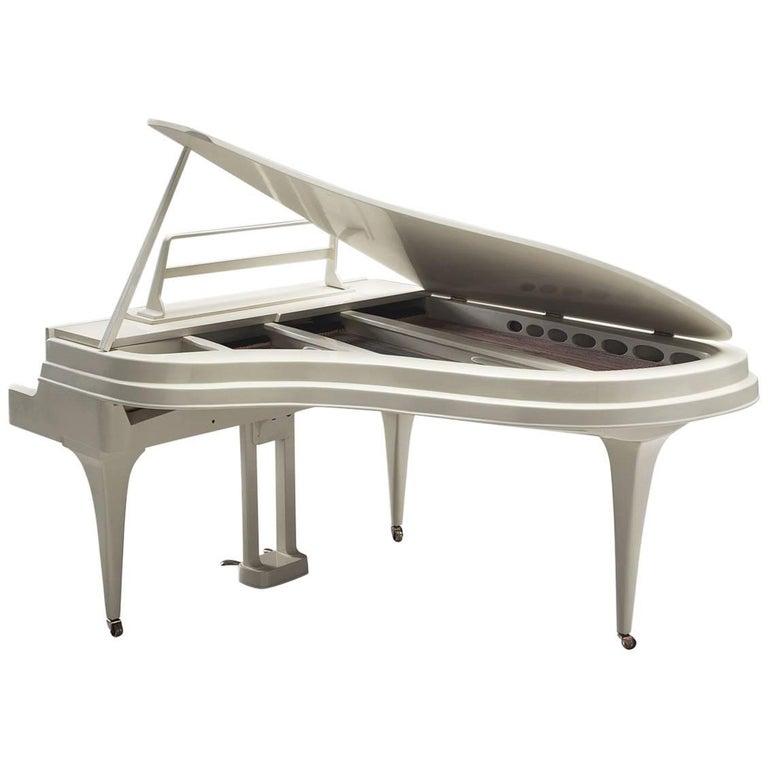 Rippen Grand Piano in Aluminium, Restored and Tuned, 1950s