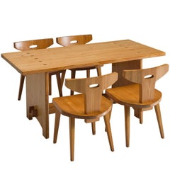 Jacob Kielland-Brandt Dining Set in Solid Pine