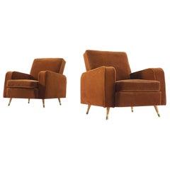 Pair of Velvet Italian Armchairs