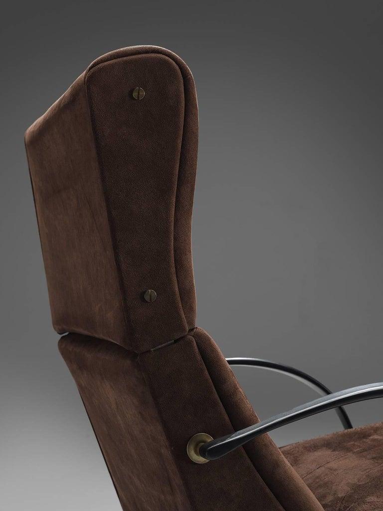 Metal Osvaldo Borsani for Tecno P40 Lounge Chair For Sale